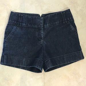 Express Dark Wash Denim Jean Shorts